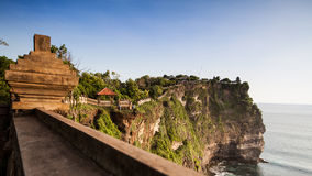 View of a cliff at Uluwatu temple, Bali Indonesia. Royalty Free Stock Photography