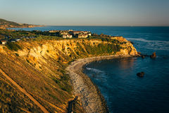 View of cliffs along the Pacific Ocean at Pelican Cove  Stock Photography