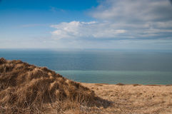 View on Cliffs of Dover, UK from Cap Blanc Nez, Fr Royalty Free Stock Photography