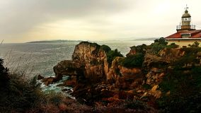 The View from Cliffs in the Magdalena Province of Santander royalty free stock photography