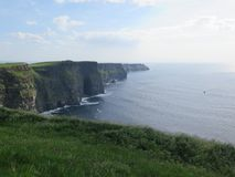 View from the cliffs of moher ireland stock photography
