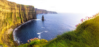 View of Cliffs of Moher, Liscannor, Ireland. Stock Image