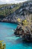 Cliffs near Skinari Cape in Zante stock photo