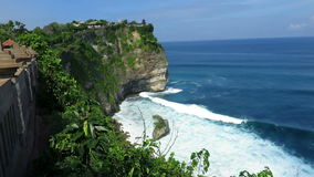 View from cliffs near Uluwatu temple stock footage