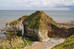 View of cliffs off Flamborough Head. View from above of cliff formations off Flamborough Head, Yorkshire, England Stock Photography