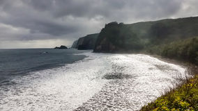 View on cliffs from the Pololu Trail, Hawaii Stock Image