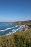 View from Cliffs of Wild Coast Beach, Transkei, So stock image