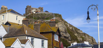View of the Clifftop and East Hill Lift Railway in Hastings Royalty Free Stock Photos