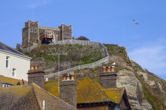 View of the Clifftop and East Hill Railway in Hastings Stock Image