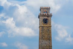 Clock tower in Galle Royalty Free Stock Image