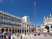 View of the Clock Tower on the Piazza San Marco in Venice, Italy Stock Photos