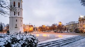 View of the Clock tower in Vilnius Lithuania royalty free stock photography