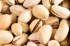 View close-up on a group of salted pistachio Stock Photo