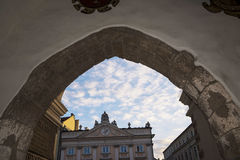 View from the Cloth Hall of the Market Square in Krakow Poland Stock Image