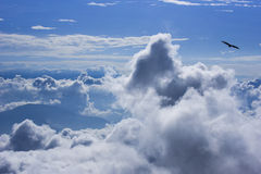 View of cloud and blue sky with annapurna mountain range Stock Image