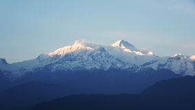 View of cloud and blue sky in annapurna mountain range , Nepal Royalty Free Stock Image
