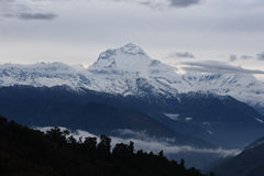 View of cloud and blue sky in annapurna mountain range , Nepal Royalty Free Stock Photo