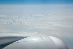View of cloud tops at 43000 feet Royalty Free Stock Photography