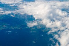View at clouds Stock Images