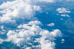 View at clouds Royalty Free Stock Photography