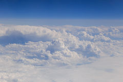 View on clouds from aircraft Stock Photography