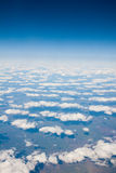 View of the clouds from the airplane Royalty Free Stock Photos