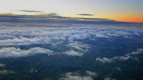 View of clouds from airplane stock video footage