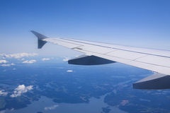 A view of clouds from an airplane window Stock Photography