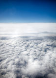 View of clouds from a airplane window Royalty Free Stock Image