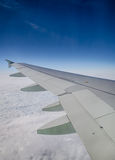 View of clouds from a airplane window Stock Photos