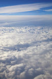 View of clouds from a airplane Stock Photos