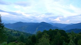 View of clouds from high mountain Mountain panorama over the clouds Clouds over mountains in summer Carpathian mountains stock video footage