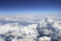 View of clouds from high up in the sky Royalty Free Stock Photos