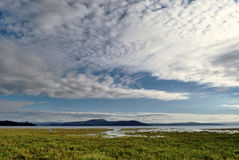 View of clouds over Morecambe Bay, Cumbria. Royalty Free Stock Photography