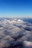View of the clouds from the top of the plane Royalty Free Stock Photo