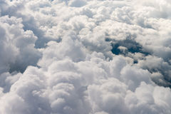 View of the clouds from the top Stock Photo