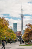 View of CN tower from University of Toronto Royalty Free Stock Image
