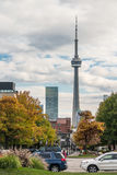 View of CN tower from University of Toronto Royalty Free Stock Photography