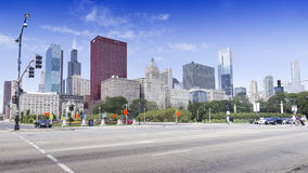 View of CNA Plaza and Willis Tower. CHICAGO, ILLINOIS - SEPTEMBER 6: CNA Plaza and Willis Tower on September 6, 2012 in Chicago, Illinois. Willis Tower, also stock image