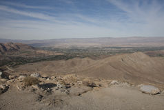 View of Coachella Valley from Highway 74 Stock Photo