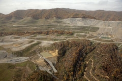 View of Coal Mine Appalachia. View of a coal mine in Appalachia stock images