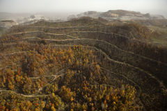 View of Coal Mine Appalachia. View of nature reclaiming disused part of the coal mine. Appalachia royalty free stock photography