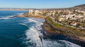 View of the coast from above in La Jolla, California royalty free stock photography