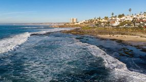 View of the coast from above in La Jolla, California stock images