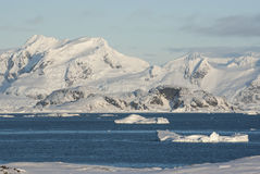 View of the coast of the Antarctic Peninsula from located next i Stock Photos