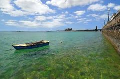 View of coast - Arrecife. Lanzarote. Royalty Free Stock Image