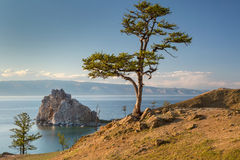 View of coast of Baikal lake Stock Photos