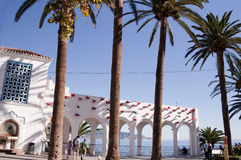 The Balcon de Europa in Nerja Spain Stock Images
