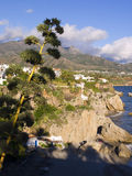 View from Balcon de Europa in Nerja Spain Stock Image