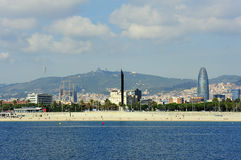 The coast of Barcelona Stock Images